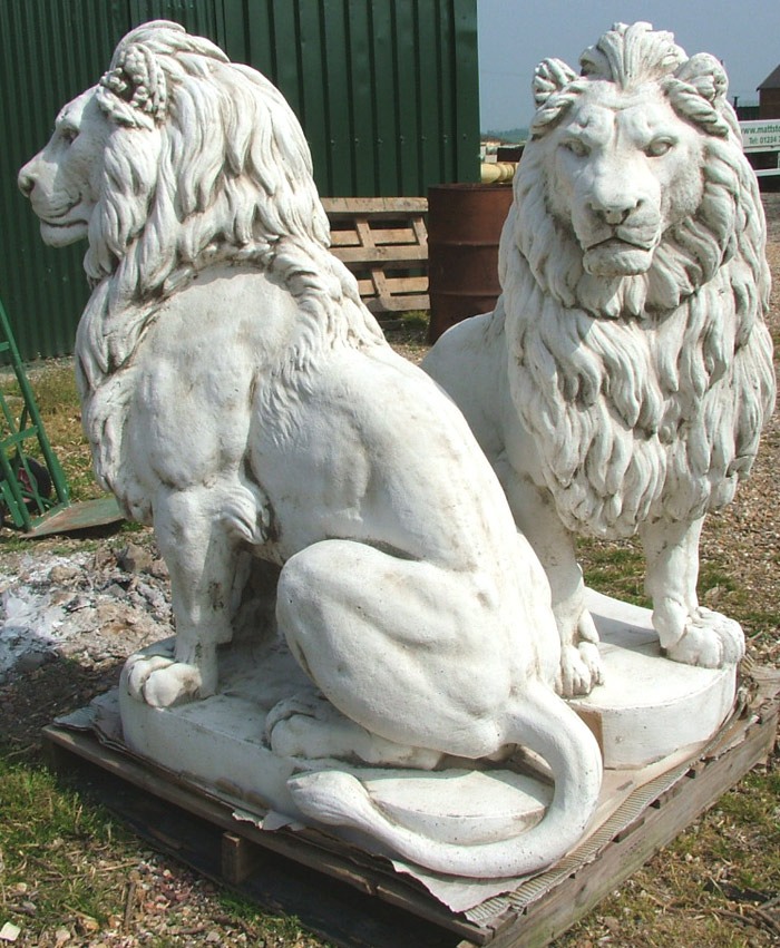 Gostatue Latex Only Lion Concrete Mold Plaster Garden Statue
