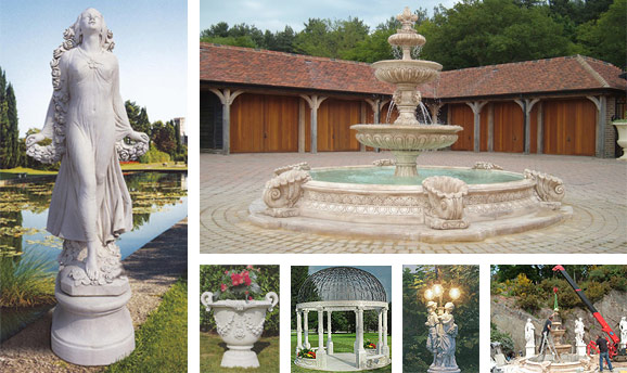 Mattstone marble composite statues, fountains and ornaments